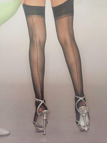 Calze autoreggenti sexy Con Riga Nere Velate sexy shop