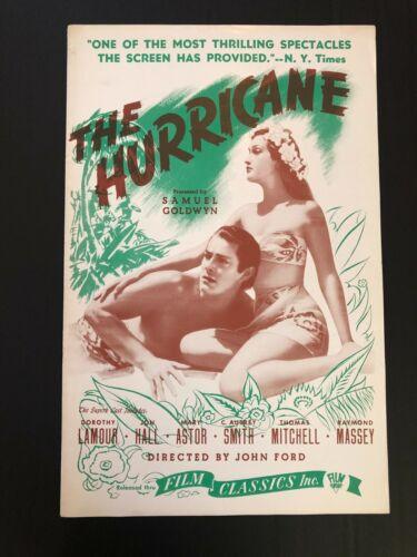 "The Hurricane Original Movie Campaign Pressbook (1937) 8 Pages - 11"" x 17"" EX+NM"