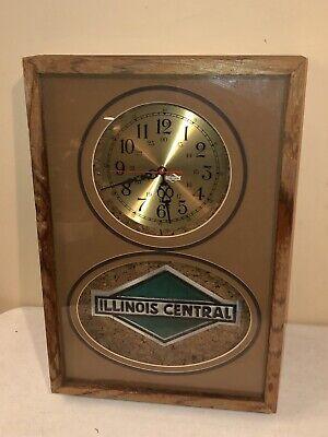 Vintage Illinois Central Railroad Clock by J. Allen Gruen artist