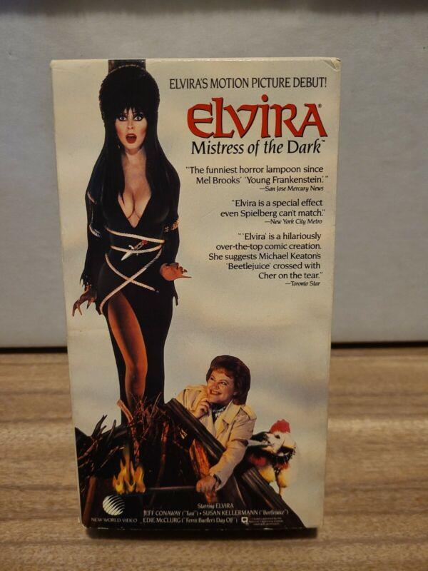 Elvira Mistress of the Dark VHS 1989 Horror Comedy Cassandra Peterson TESTED