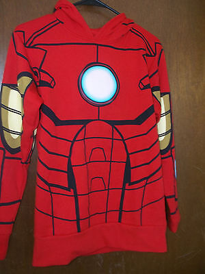 Marvel Comics Iron Man graphic costume Hooded Sweatshirt  Arc Lights up NWT 2XL - Iron Man Light Up Costume