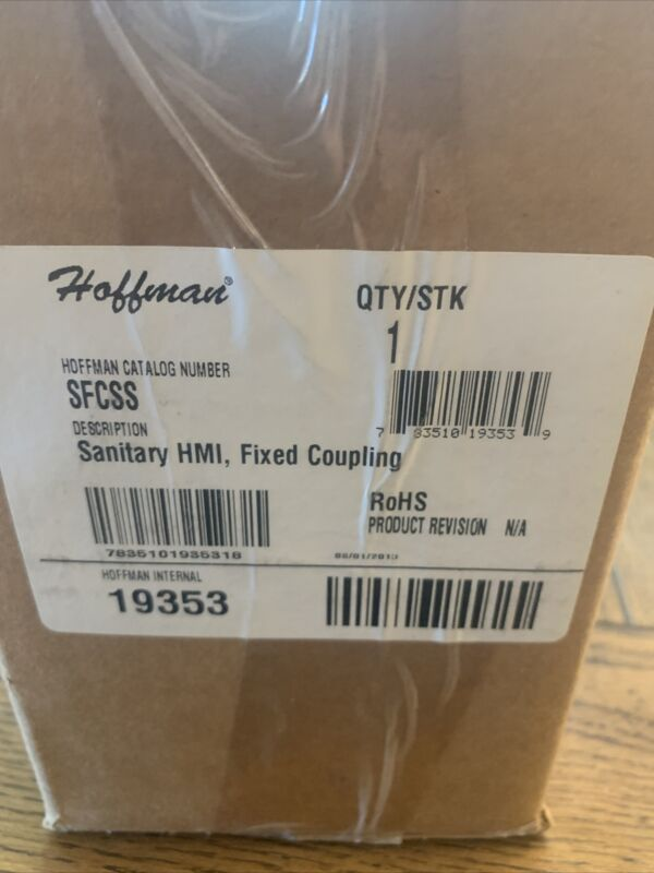 New Hoffman Sanitary HMI Fixed Coupling SFCSS