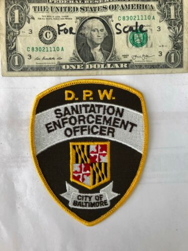 Sanitation Enforcement Officer Police Patch (Baltimore) Un-sewn in great shape