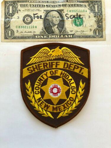 Hidalgo County New Mexico Police Patch  Un-sewn great condition