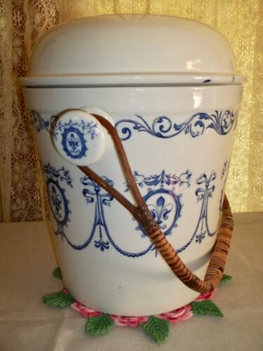 Antique ADDERLEYS SHERATON Slop Pail / Waste Bucket With Lid