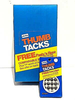 Lot Of 24 Packs Chrome Vintage 1983 Amtac Thumb Tacks 960 Tacks Total