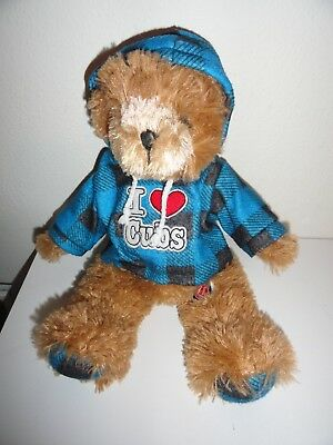 FUZZY I LOVE THE CHICAGO CUBS PLUSH BEAR WITH HOODIE