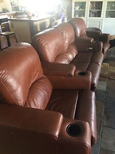 Leather Reclining Theatre Lounge Singleton Rockingham Area Preview