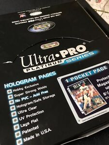 Pochettes protectrices d'Ultra-Pro Platinum Series
