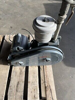 Welch Scientific Duo Seal Lab Vacuum Pump 1403 Ge 12hp Motor Belt Driven