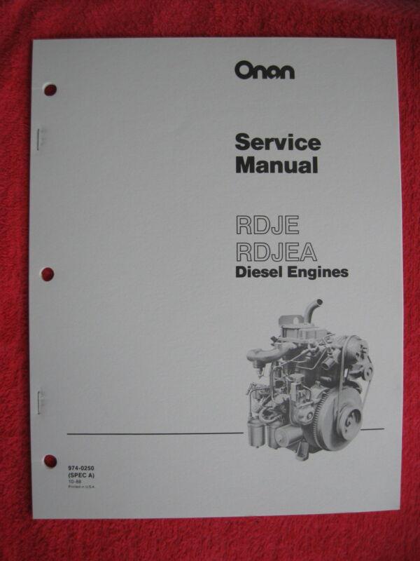 ONAN RDJE & RDJEA DIESEL ENGINE SERVICE MANUAL