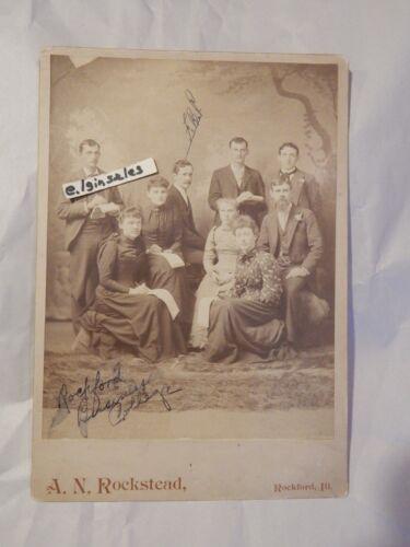 Rockford Illinois ILL IL Business College VERY LARGE Cabinet Photo Circa 1895