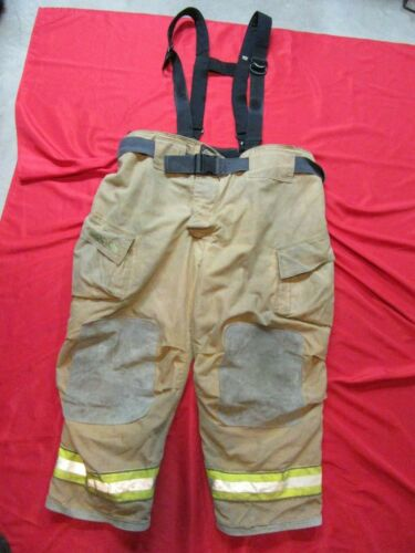 52 x 28 Cairns REAXTION Firefighter Pants W Suspenders Bunker Turnout Fire Gear