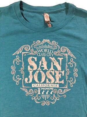 San Jose California 1777 World Class City Women Light Blue T Shirt Sz.XS (California Womens Light T-shirt)