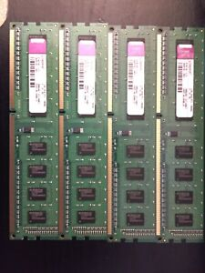 4 x 1gb Kingston PC3 RAM