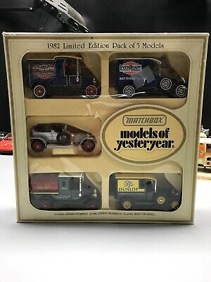 "1982 Matchbox ""Models Of Yesteryear"" Limited Edition Pack Of 5"