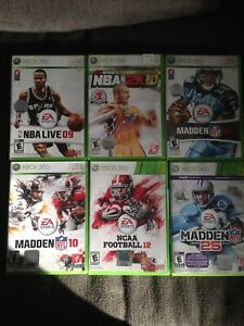 Xbox 360 hockey, football, and basketball games