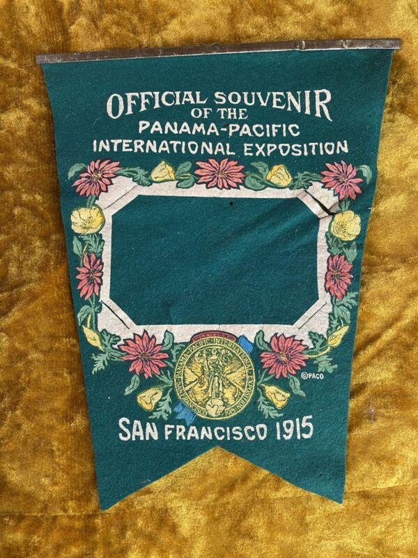 1915 PPIE San Francisco Felt Pennant Panama Pacific Flag, Card Holder, Banner,
