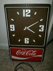 Vintage Coca Cola Electric Wall Clock