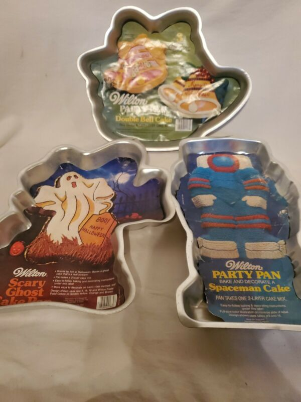 Vintage Wilton Cake Pans Lot Of 3
