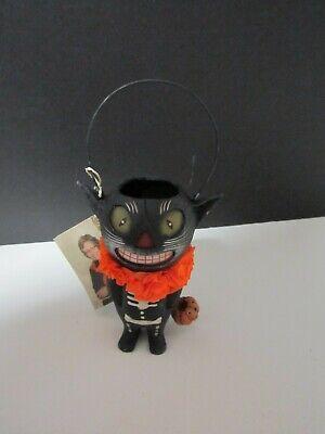 Bethany Lowe Halloween Black Cat Bucket TJ6234 NWT!