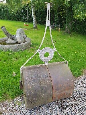 Antique Vintage Large Cast Iron British Hard Tennis court lawn garden Roller
