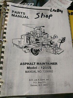 Leeboy Model 1200 Asphalt Maintainer Operators And Service Manual