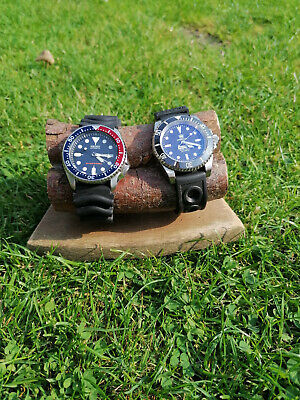 Wooden watch standhhand made using reclaimed wood and industrial fittings