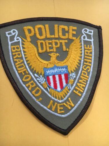 Bradford New Hampshire Vintage Police Patch