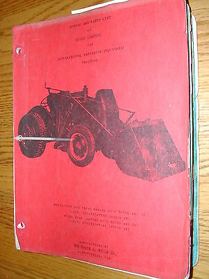 International Hough I-4a 6a Id-6a Parts Catalog Operation Manual Loader Tractor