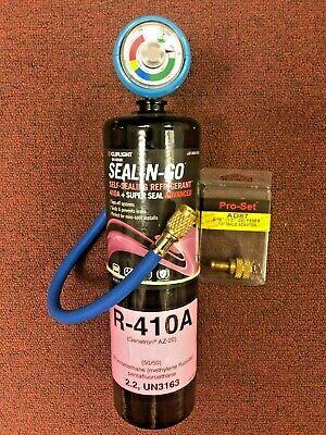 410a R410a R-410a Refrigerant Leak Stop Gauge Charging Hose Instructions