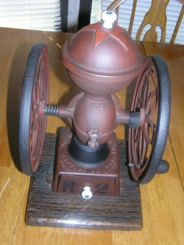 Rare Antique Enterprise Number 2 Double Wheel Coffee Grinder,  Country Store