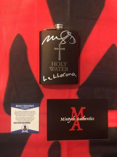 MARISOL RAMIREZ THE CURSE OF LA LLORONA SIGNED HOLY WATER FLASK! BECKETT COA!