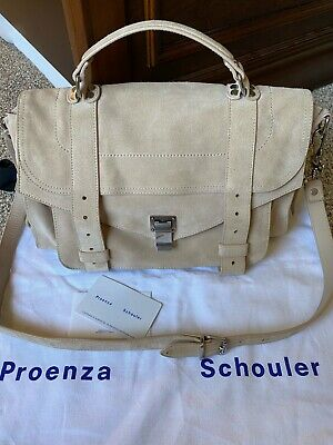 Proenza Schouler PS1 Medium In Beige Suede