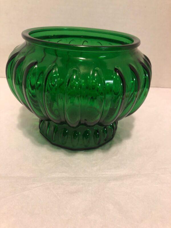 Vintage INARCO USA, #5441 Emerald Green Round Planter