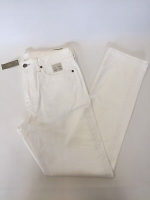 NWT JCrew 770 Straight-fit jean in rinsed white Size 32/34 E8095