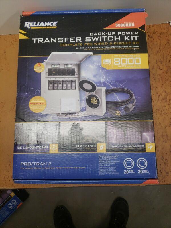 New Reliance Controls 3006HDK 6-circuit Generator Power Transfer Switch Kit