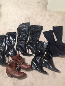 Boots 5 pairs
