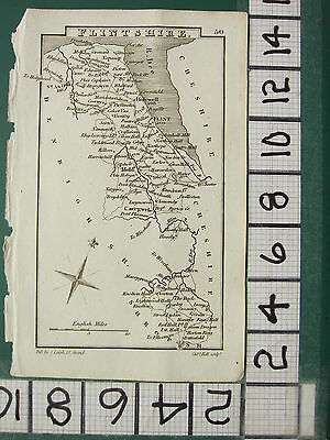c1833 GEORGIAN MAP ~ FLINTSHIRE ~ FLINT MOLD ST ASAPH CAERGWRLE