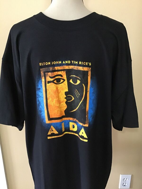 NEW AIDA (ELTON JOHN TIM RICE) Musical Broadway Play Shirt / Size XL NWT Disney