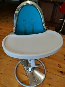 Bloom fresco - high chair   . Siver frame.