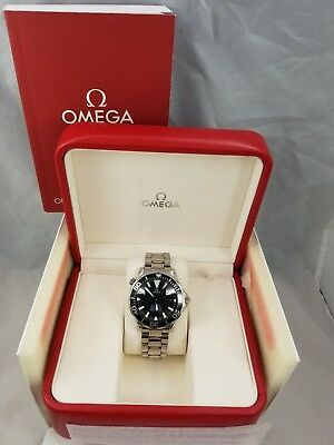 Omega Seamaster Professional 300m Automatic Black Face and Bezel Chronograph