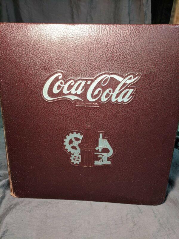 Rare Vintage 1947 Coca Cola Production Handbook - Embossed Binder