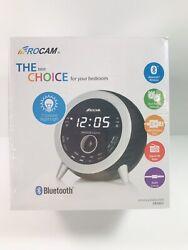 ROCAM Digital FM Alarm Clock Radio Bluetooth 4.1 Dual Alarm 7 Colored Night Lite