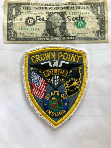 Rare Crown Point Indiana Police Patch Pre-sewn good shape