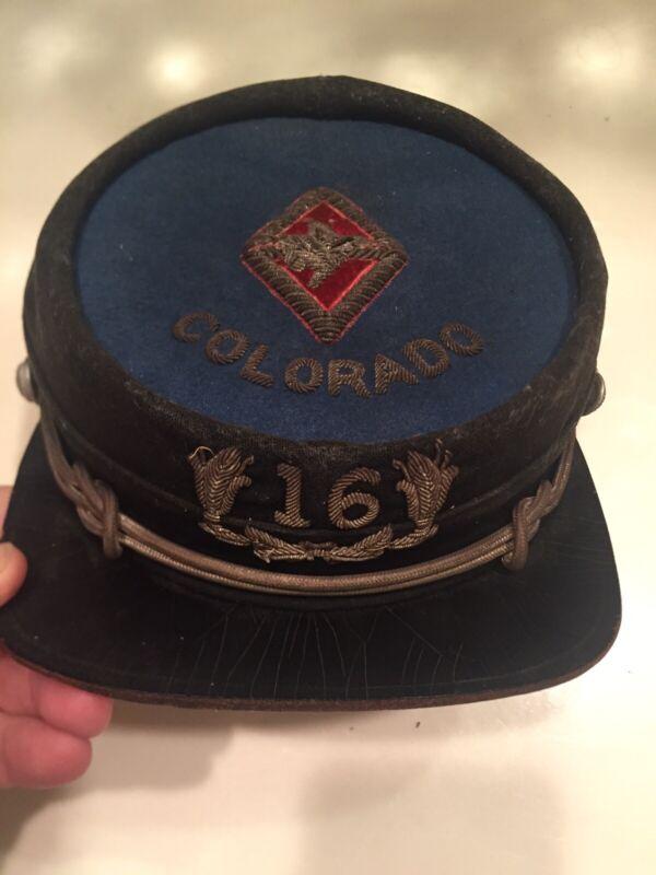 Superb 1800s Masonic Knights of Pythias Old Colorado Kepi