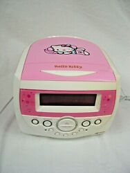 Hello Kitty Pink AM/FM Stereo Radio Dual Alarm Clock Model KT2053 -  NO CD