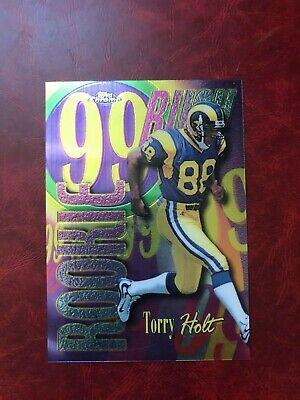 Torry Holt 1999 Topps Chrome Rookie Rush card #AE27 Rams 1999 Topps Chrome Football