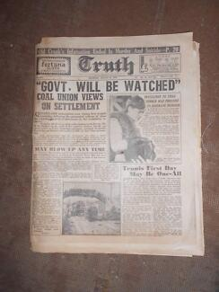 VERY OLD NEWSPAPER  PLUS 2 OTHER PARTS OF NEWSPAPERS Emmaville Glen Innes Area Preview