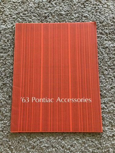 1963  Pontiac  original dealership accessories sales catalogue.